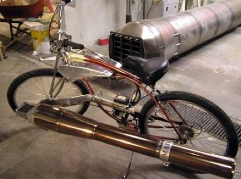 Picture of The Pulse Jet Bicycle that Goes up to 75 mph