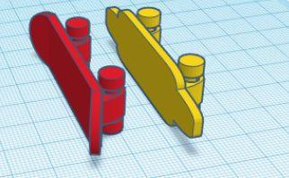 Print-in-place Rolling Skateboard (tech Decks)