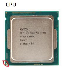 Picture of CPU to Motherboard
