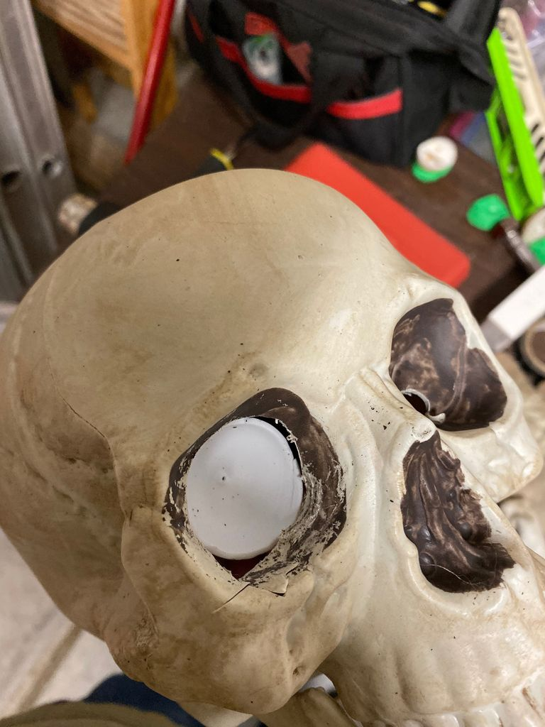 Picture of Glue Ping Pong Balls Into Eye Sockets