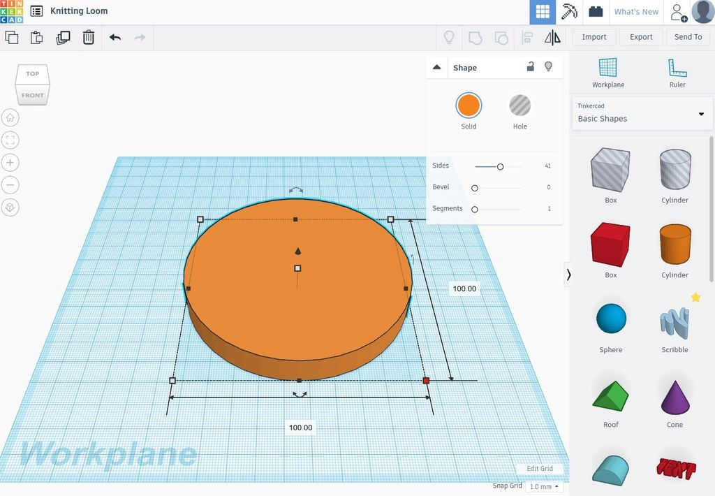 Picture of Designing the Loom in Tinkercad - Part 1