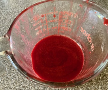 Making Raspberry Juice