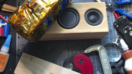 Solder in the Speakers and Glue Front Panel