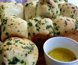 拉开大蒜面包食谱