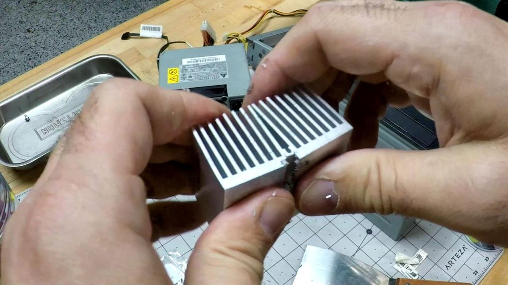 Picture of Cut Heat Sink to Size