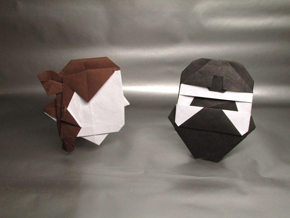 Origami Edelweiss Flower + Stem Instructions - YouTube | Origami ... | 700x933