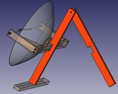 Join the Rear Leg With a Screw and Nut to the Rest of the Structure