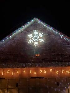 "Neon Flex Snowflake - 49"" Wide"