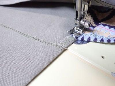 Top-stitch Flap
