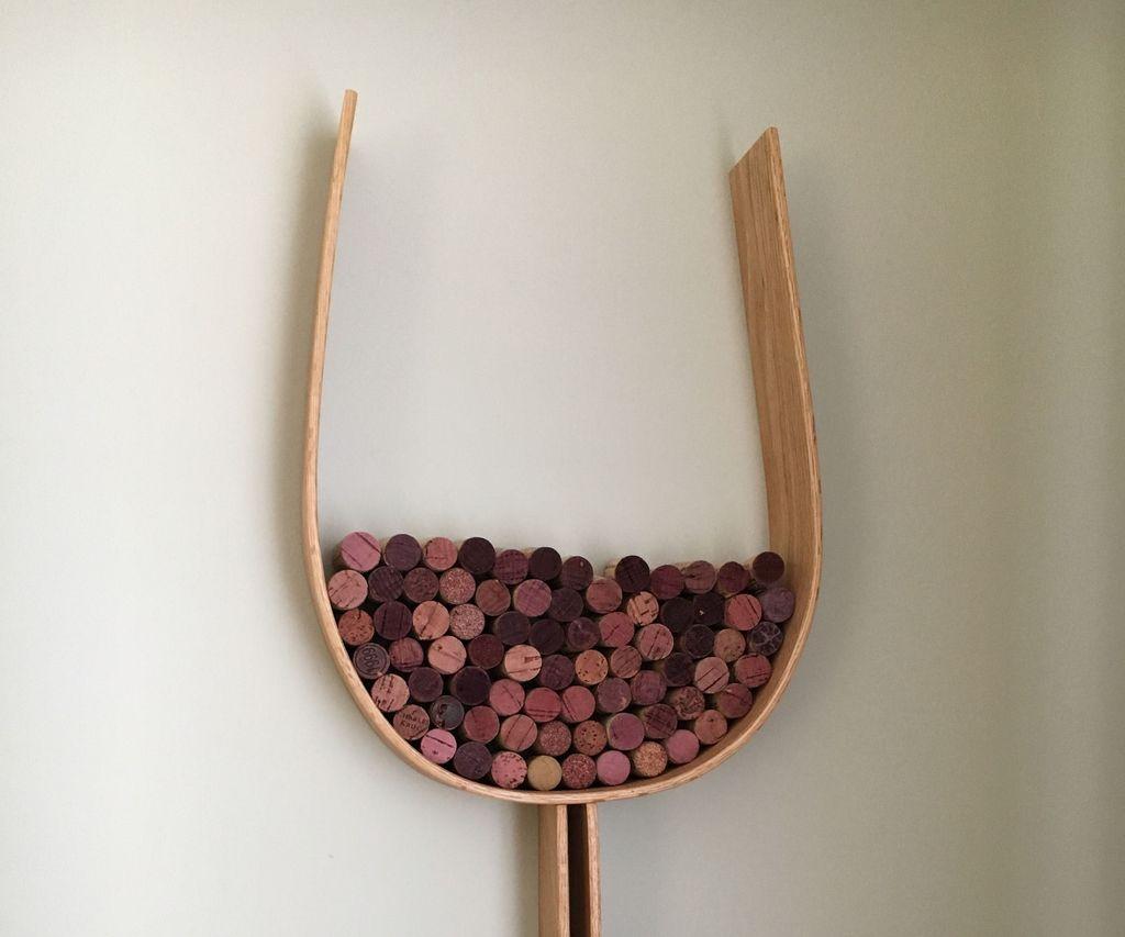 Wine Glass Shaped Cork Shelf