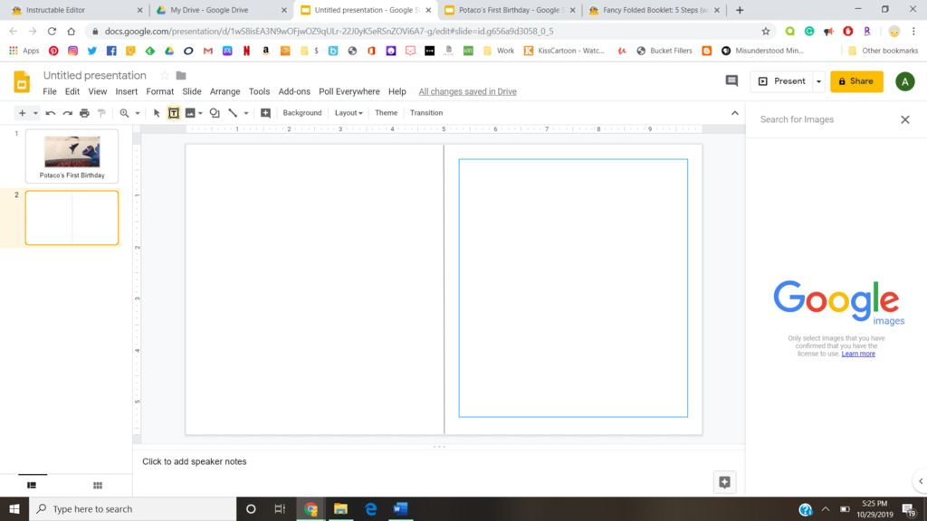 Picture of Create the First Page of Your Book.