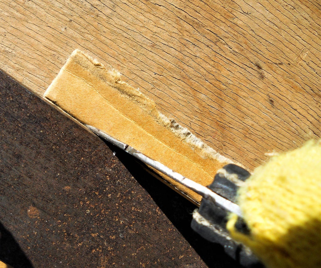 Picture of Making the Stiffening Cardboard Parts of the Stool-Table Base