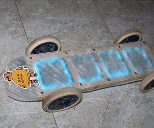 "3D-Printed Skateboard ""Neon Lighted"""