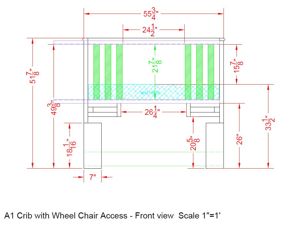 Picture of Modify Crib Front Support