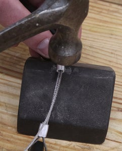 Thread Steel Wire and Crimp to Thumb Drive Body