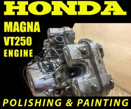 Engine Heads Buffing and Cooling Fins Painting Honda Magna VT250