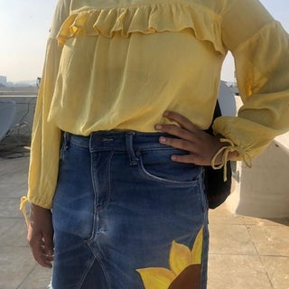 Refashioned Comfy Skirt From Old Used Jeans(no Sewing)