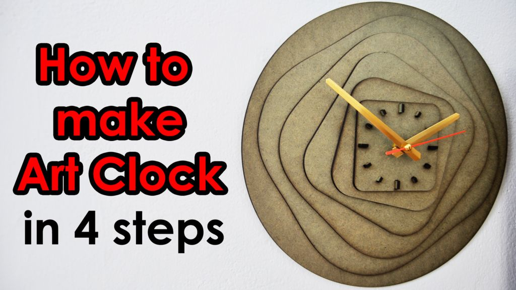 Picture of How to Make ART CLOCK