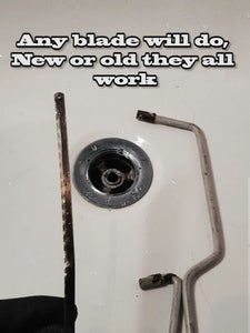 Unblock the Drains With a Hacksaw?
