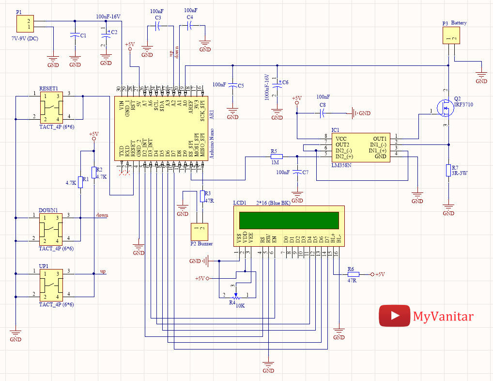 Picture of Figure 1, Schematic Diagram of the Battery Capacity Measurement Device