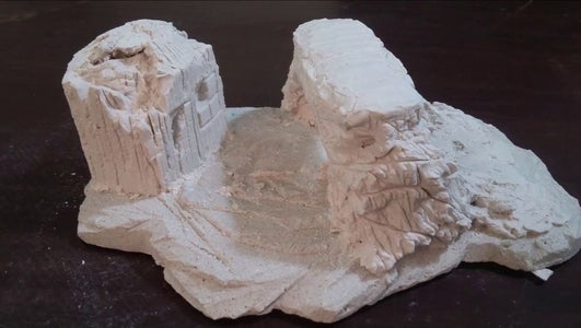 Making of Rocks & Bridge