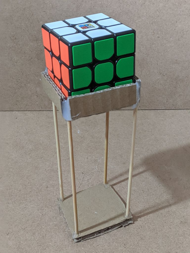 Picture of How to Make a Rubik's Cube Stand Version Two