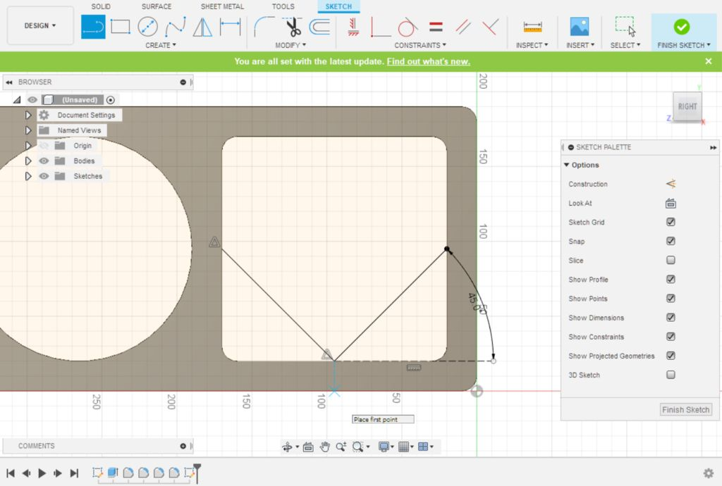 Picture of Fusion 360 Design: Sketching the Front Retaining Walls