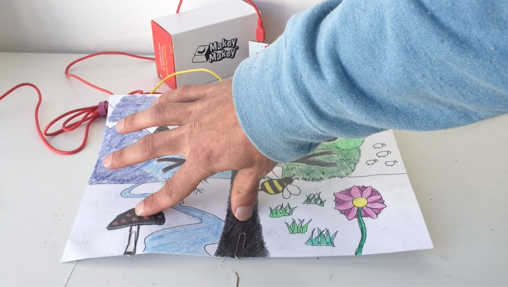 Picture of Connect to Makey Makey and Art