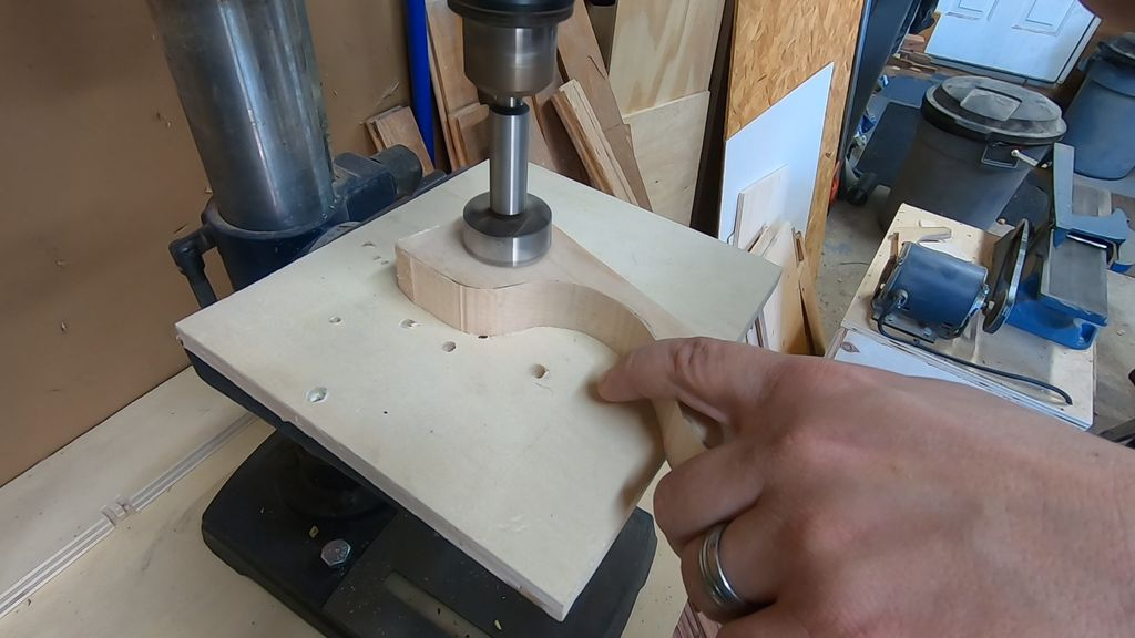 Picture of Drill Holes to Make Cavities for the BBs