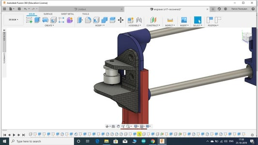 MOUNTING THE MOTOR , PULLEY AND THE BELT OF THE X-AXIS