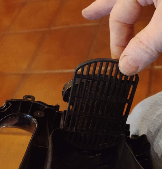 Picture of Remove the Foam FIlter and the Unneeded Plastic Grille