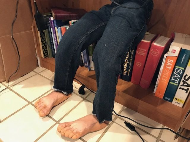 Picture of Pants, Poly-Fill, and Feet