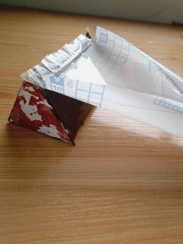 Picture of Using the Plastic Wrapper for Books.