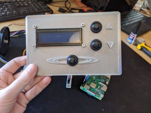 Mount Buttons and LCD Screen