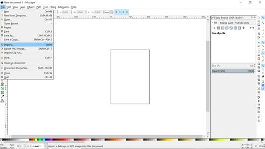 Import Image to Inkscape