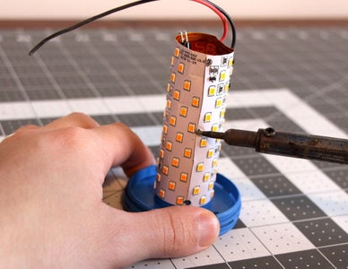 Disassembling the LED Flame Bulbs (C)