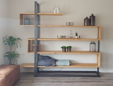 Industrial Bookshelf Cabinet