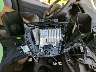 Unplug the Airbag & Hazard Cables From the Factory Trim Panel