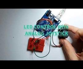 Arduino LED Control With Analog Joystick