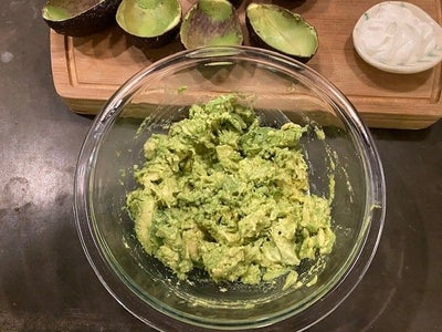 Do a Rough Mash on the Avocado.