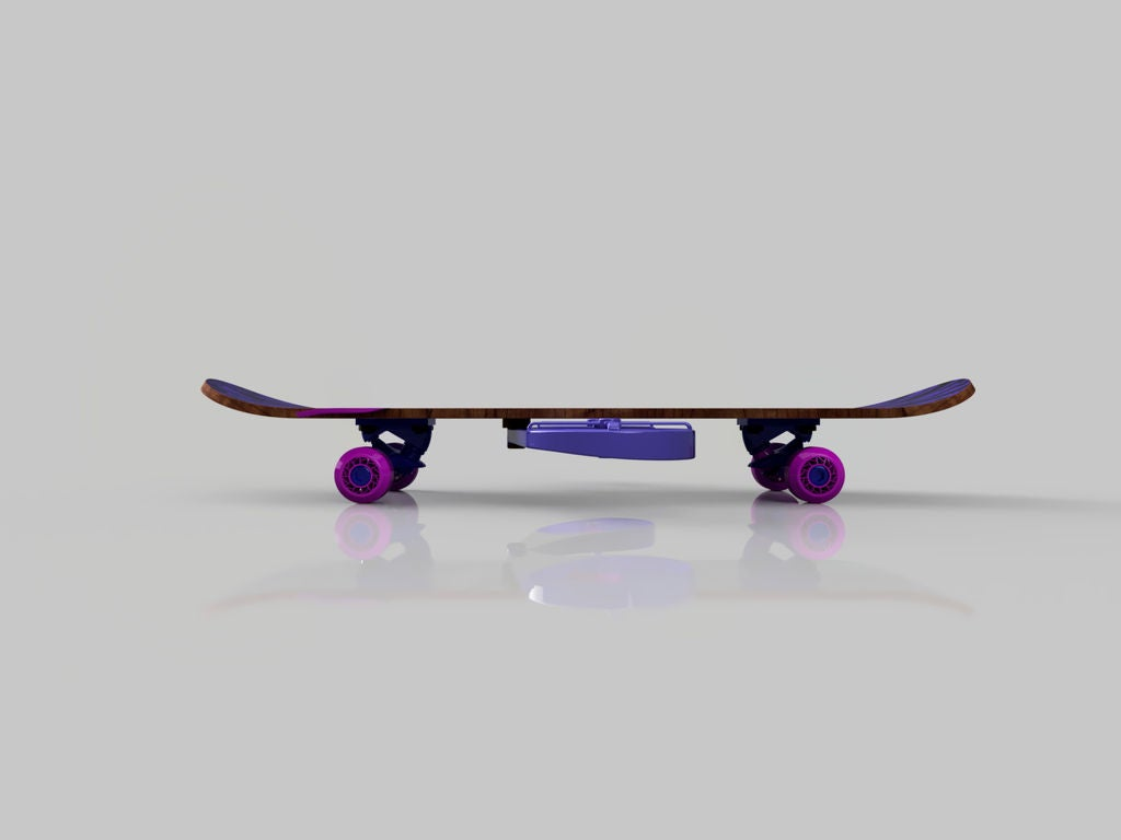 Picture of Folding Biplane Skateboard in Imitation of Uav by Fusion 360