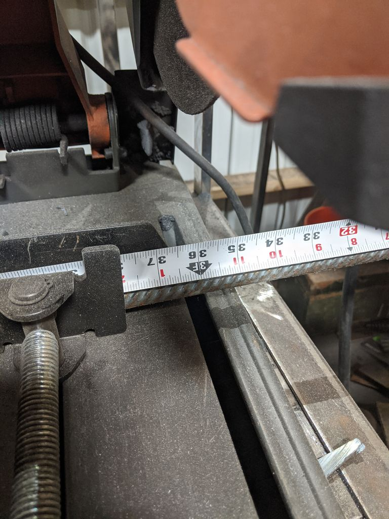 Picture of Cutting the Rebar to Length