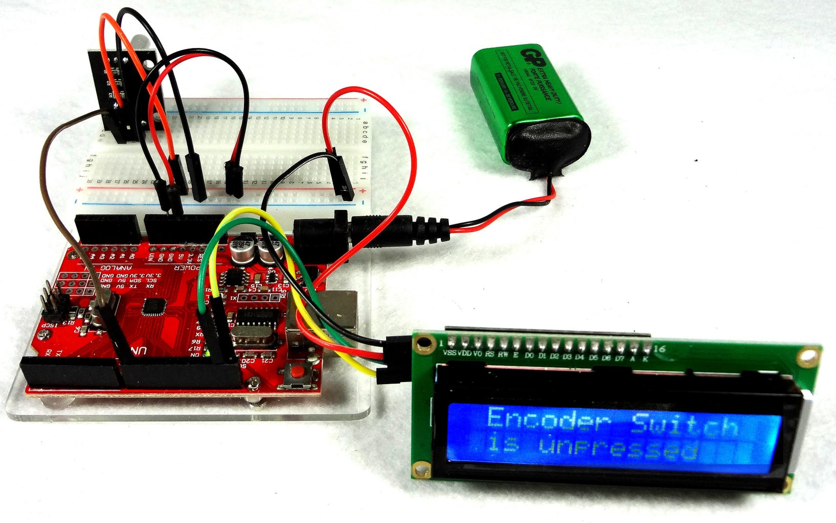 Incremental Rotary Encoder Switch-Example 2