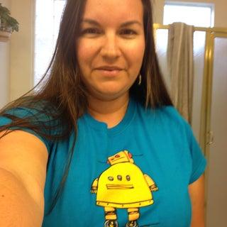 DeandrasCrafts in Robot shirt2.JPG