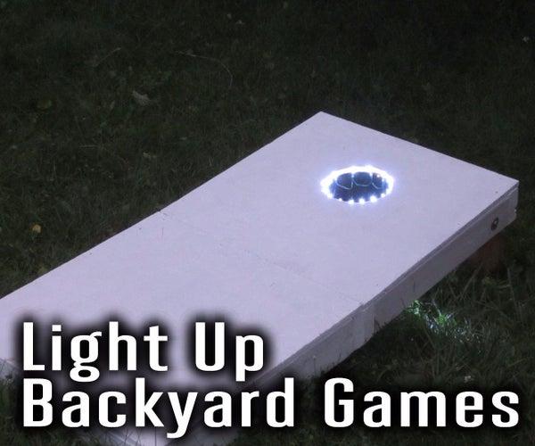 Add Light Up Effects to Backyard Games Like Cornhole