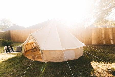 Assembling a Bell Canopy Tent