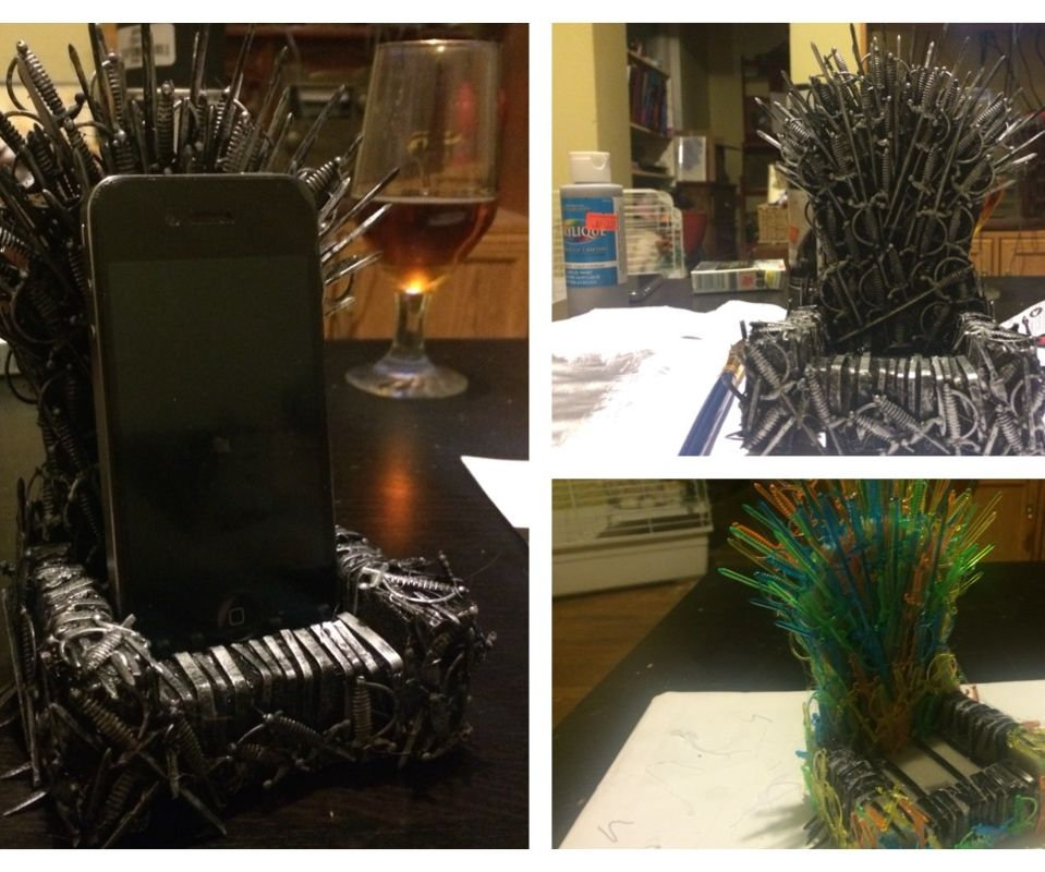 iThrone: Build an Iron Throne for your phone for less than $25