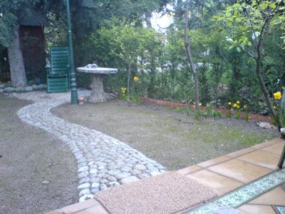 Stone Walking Path Construction & Drainage Setup for your Lawn