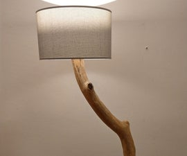 Driftwood Floor Lamp, Dimmable