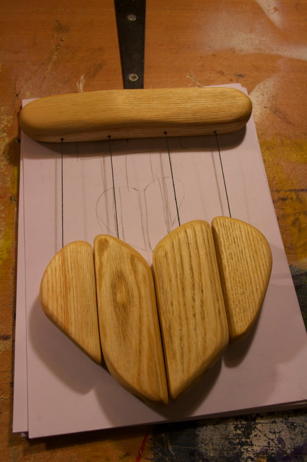 Wooden Heart Wind Chime